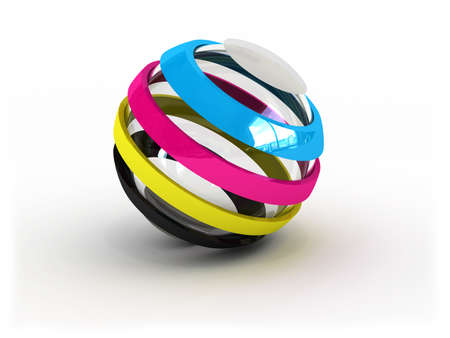 CMYK ball sign (image can be used for printing or web)