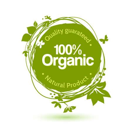 Ilustración de Vector watercolor sketch label for organic product. Hand drawing food and drink sticker. Farm offer design element. - Imagen libre de derechos