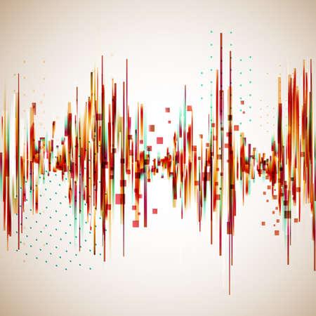 Illustration pour Vintage style equalizer. Vector background for music themes. - image libre de droit