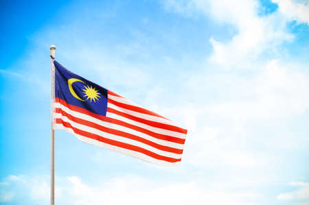 Photo for flag of Malaysia - Royalty Free Image