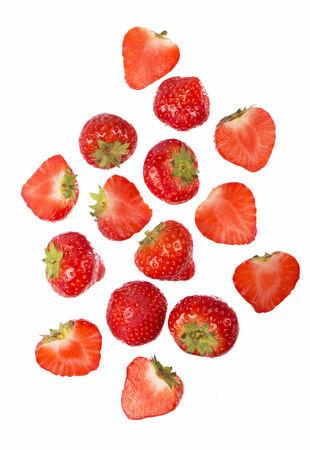 Foto de Fresh strawberry isolated on the white - Imagen libre de derechos