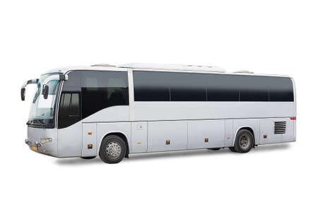 Photo pour big tourist bus on white background - image libre de droit