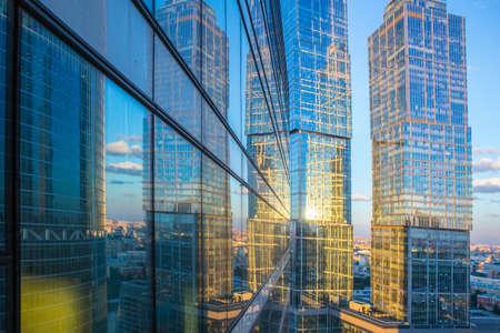 Photo pour High rise buildings of Moscow business center Moscow - city - image libre de droit
