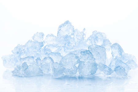 Crushed ice isolated on white background