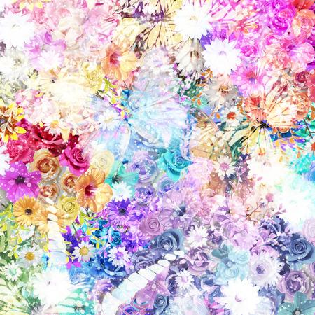 Foto de Colorful flowers background - Imagen libre de derechos