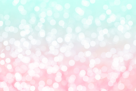 Photo pour Colorful background with natural bokeh texture and defocused sparkling lights. Turquoise and pink texture with background with twinkling lights. Vintage and pastel colors - image libre de droit