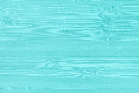 Foto de Natural wooden turquoise boards, wall or fence with knots. Abstract textured mint background, empty template - Imagen libre de derechos