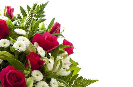 Photo pour Beautiful bouquet with pink roses for background use - image libre de droit
