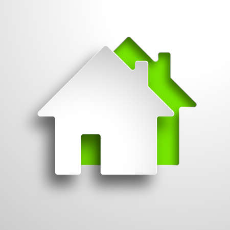 Illustration for real estate 3d vector green background - Royalty Free Image