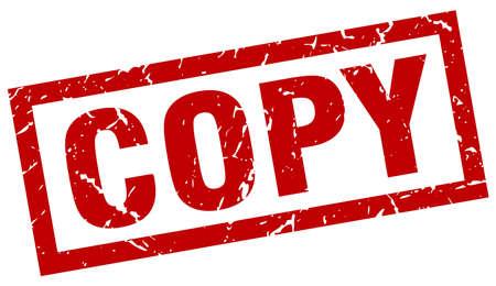 Illustration for square grunge red copy stamp - Royalty Free Image