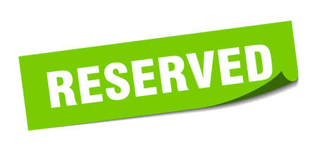 Ilustración de reserved sticker. reserved square isolated sign. reserved - Imagen libre de derechos