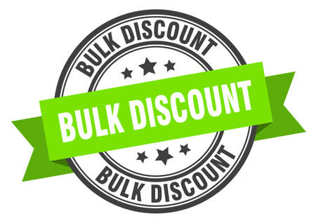 Illustration pour bulk discount label. bulk discount green band sign. bulk discount - image libre de droit