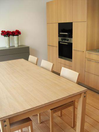 kitchen table in modern kitchen