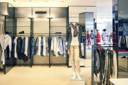 Photo for interior of woman dress shop  - Royalty Free Image