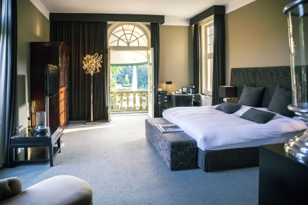 Photo for luxury bed room in hotel - Royalty Free Image