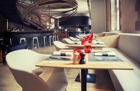 Photo pour designed restaurant in antique old building - image libre de droit