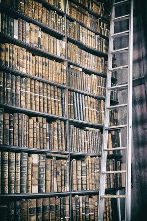 Foto de detail of old classic library, Ireland - Imagen libre de derechos
