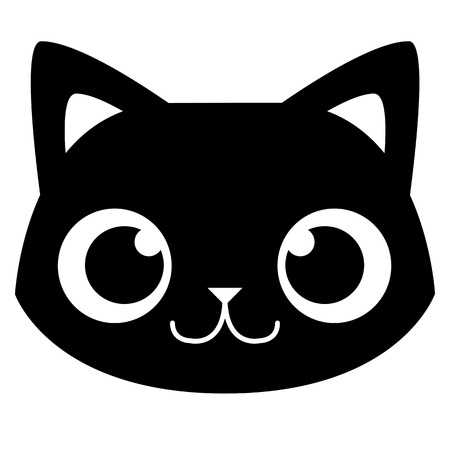 Illustration pour Vector Cartoon Adorable Cat Face Isolated Illustration - image libre de droit