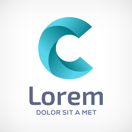 Ilustración de Letter C logo icon design template elements. Vector color sign. - Imagen libre de derechos