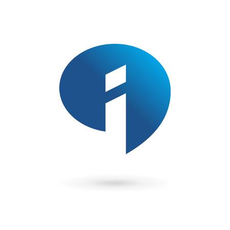 Illustration pour Letter I speech bubble info logo icon design template elements. Vector color sign. - image libre de droit