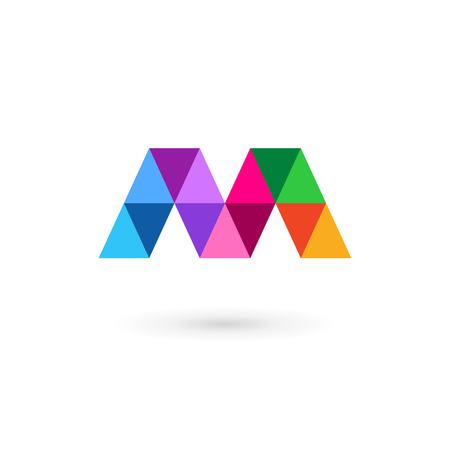 Illustration pour Letter M mosaic logo icon design template elements - image libre de droit