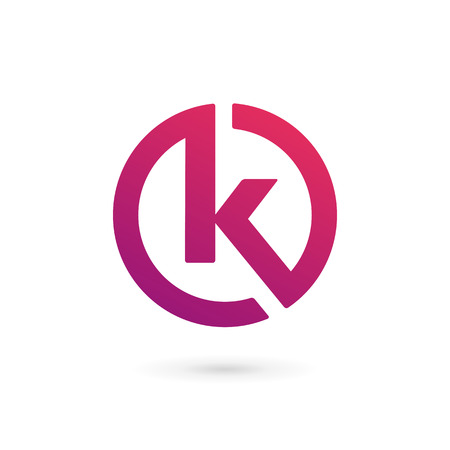 Illustration pour Letter K logo icon design template elements - image libre de droit