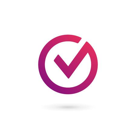 Illustration pour Letter V check mark logo icon design template elements - image libre de droit