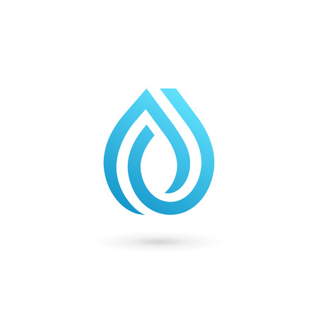 Ilustración de Water drop symbol design template icon. May be used in ecological, medical, chemical, food and oil design. - Imagen libre de derechos