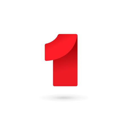 Ilustración de Number one 1 logo icon design template elements - Imagen libre de derechos
