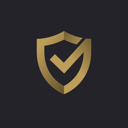 Illustration pour Shield check mark logo icon design template elements - image libre de droit