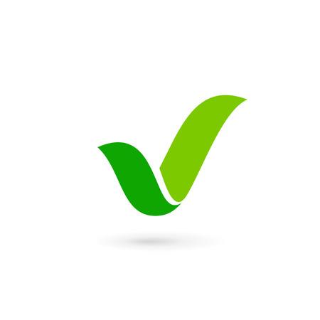 Illustration pour Eco leaves check mark logo icon design template elements - image libre de droit