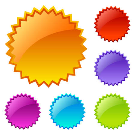 Illustration for  blank colored web icons - Royalty Free Image