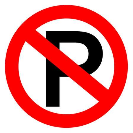 Illustration pour No parking sign, vector illustration - image libre de droit