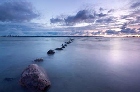 Photo pour Sea sunset photo - image libre de droit