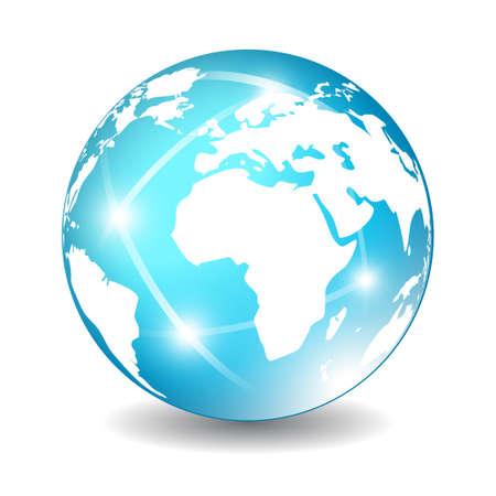 Earth globe icon, vector illustration