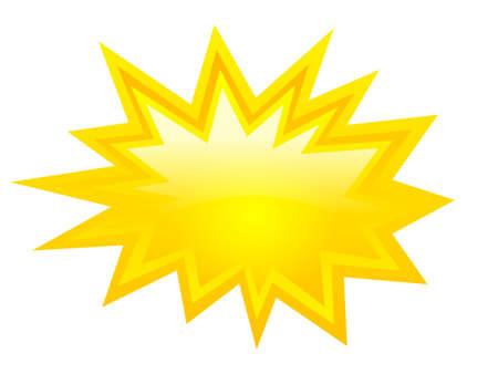 Illustration pour Yellow bursting icon, vector clip art - image libre de droit