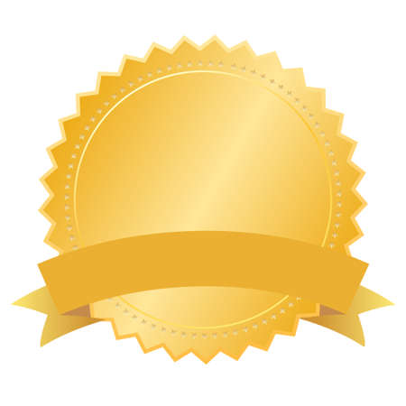 Illustration for Vector blank gold seal - Royalty Free Image