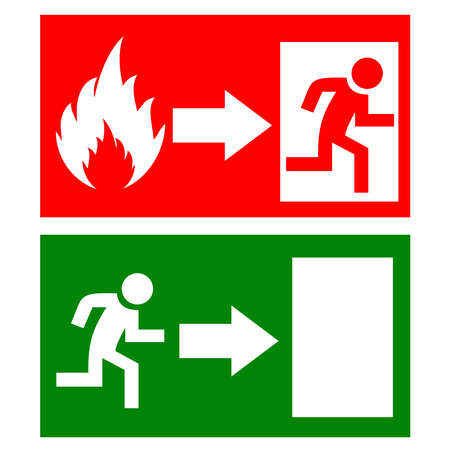 Illustration for Fire exit signs - Royalty Free Image