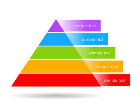 Illustration pour Layered pyramid illustration - image libre de droit