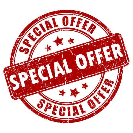 Illustration pour Special offer stamp - image libre de droit