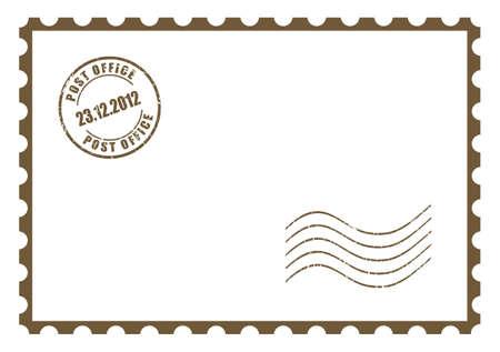 Illustration pour Blank postcard - image libre de droit