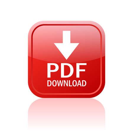 Illustration pour Pdf download button - image libre de droit