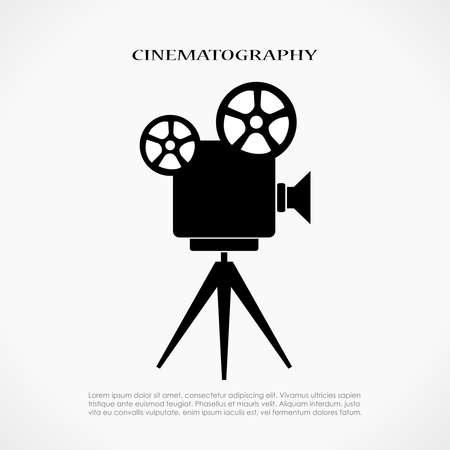 Ilustración de Retro cinema icon - Imagen libre de derechos