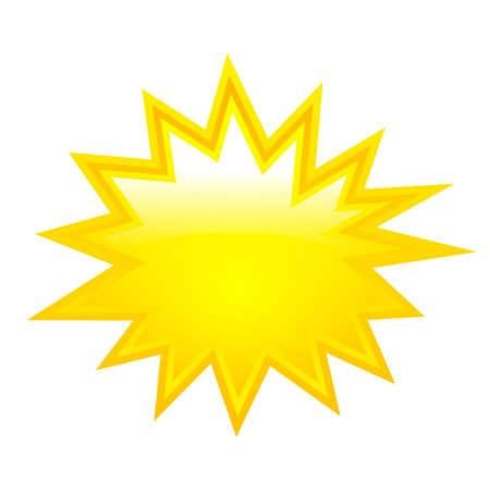 Illustration pour Yellow boom star - image libre de droit