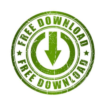 Illustration pour Free download stamp - image libre de droit