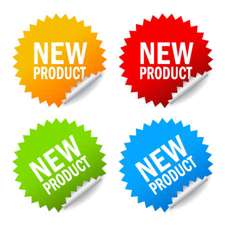 Illustration for New product sticker - Royalty Free Image