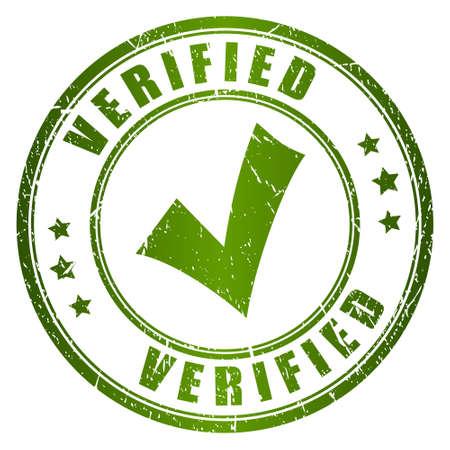 Illustration pour Verified stamp - image libre de droit