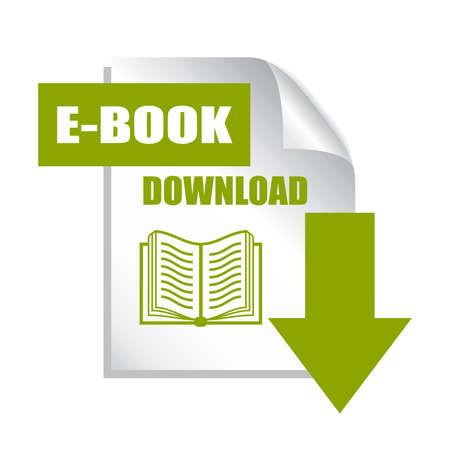 Illustration pour Book download button - image libre de droit
