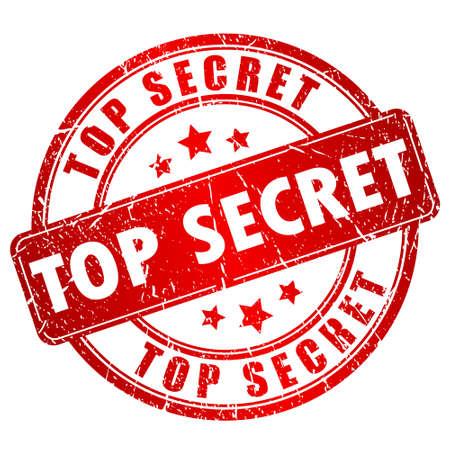 Ilustración de Top secret stamp - Imagen libre de derechos