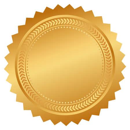 Illustration pour Seal certificate - image libre de droit